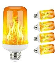 LED E27 Flamlampor 15W 85-265V 4 MODER Ampoule LED Flame Effect Light Bulb Flicking Emulation Fire Light (5pcs)