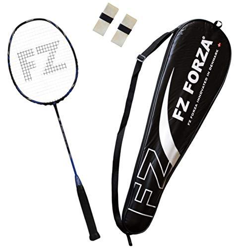 FZ Forza - Badmintonschläger Airflow 74 Lite für Fortgeschrittene - Schlägertasche & 2 Badminton Racket Grip gratis,blau