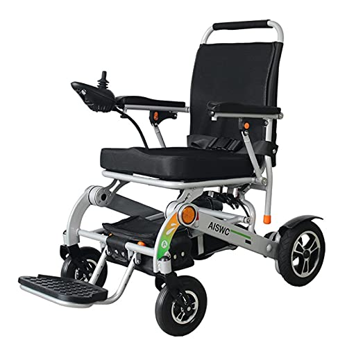 GNLIAN HUAHUA Silla de Ruedas eléctrica 2020 Fashion Lithium Battery Lightweight Power Power Power Setherchair para la Venta discapacitada al Aire Libre (Color : Sliver)