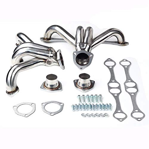 SUPERFASTRACING Stainless Exhaust Manifold Headers for Chevy Small Block Hugger V8 262 265 283 305 327 350 400