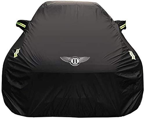Cubierta del coche Bentley Continental GT coche espesor cubierta de tela Oxford Protección Solar lluvia cubierta del coche cubierta de tela forrado de terciopelo (Color : Lined With Velvet)