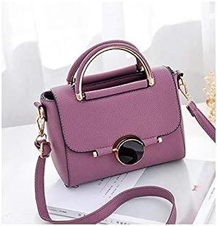 Asdfnfa New Ladies Bag Hardware Decoration Fashion Shoulder Bag Fashion Mobile Female Bag (Color : Purple)