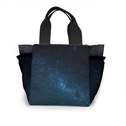 Radiance Glitter Starry Sky Handbag Women's Fashion Shopping Bag Reusable Carry Small Handbag
