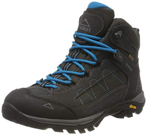 McKINLEY Damen Trekkingstiefel Denali Mid AQX II Trekking- & Wanderstiefel, Grau (Grey Dark/Turquoise 000), 37 EU