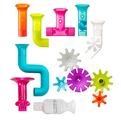 Boon BUNDLE Building Toddler Bath Tub Toy with Pipes, Cogs and Tubes for Kids Aged 12 Months and Up, Multicolor (Pack of 13) by RCBB9