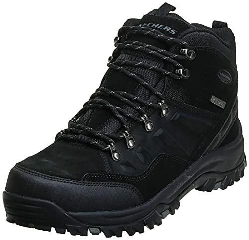 Skechers Men's Relment Pelmo Hiking Boot, Black, 8.5