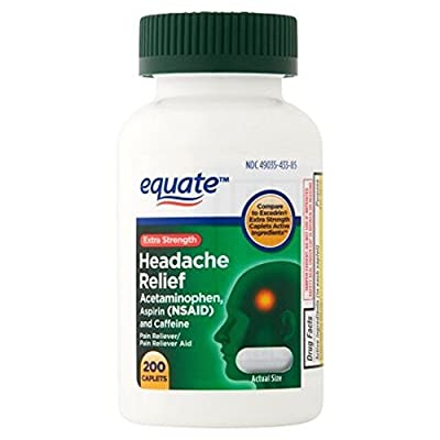 Compare to Excedrin Caplets active ingredients Acetaminophen, Aspirin and Caffeine Pain Reliever + Pain Reliever Aid For the temporary relief of minor aches and pains