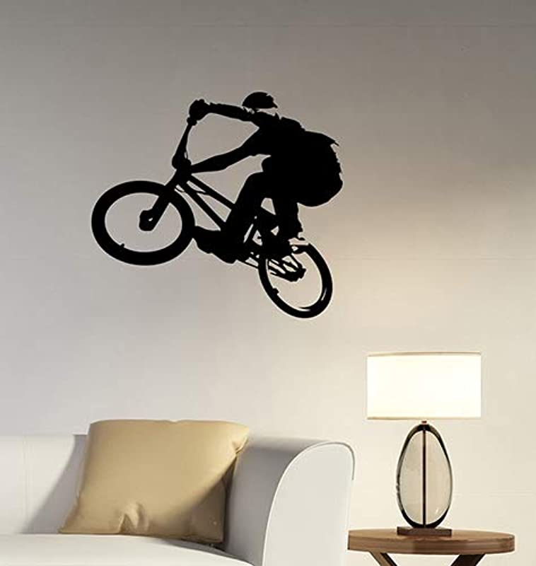 BMX Rider Silhouette Vinyl Wall Decal Freestyle Sticker Urban Extreme Sports Art Decorations For Home Kids Boys Room Biker Decor Ideas Bmx3