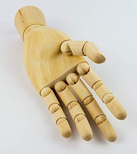 MONT MARTE Gliederhand – Modellhand aus Holz – linke Hand – 25,4 cm – Flexible Holzhand, ideal als Model zum Zeichnen - 7