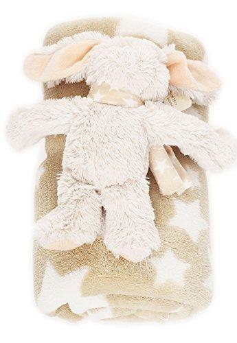 bébé Couverture douce avec Animal en peluche chaud couverture BF 000033 - Beige / Etoile