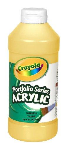 Crayola Portfolio Series 16-Ounce Acrylic Paint, Turner's Yellow, Pint