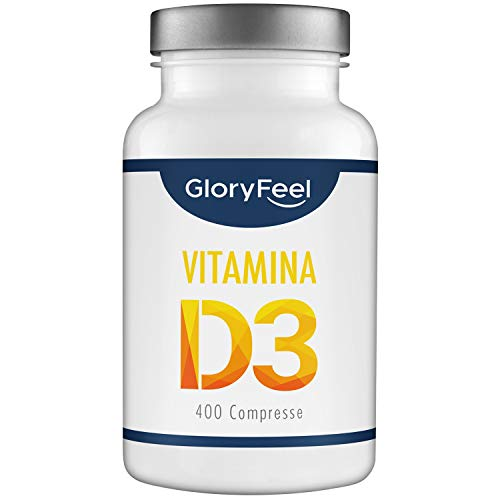 Vitamina D 1000 IU - 400 Compresse facili da inghiottire | Fornitura per più di 1 anno |...
