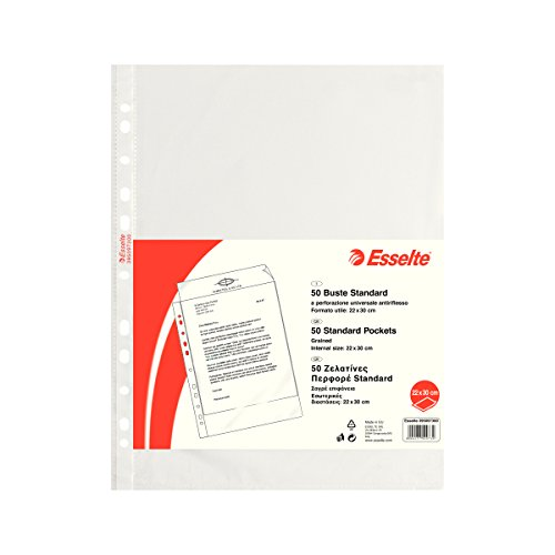 ESSELTE Buste perforate STANDARD - PPL antiriflesso - f.to 22 x 30 cm - 395097300