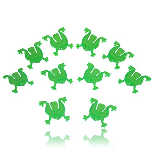 Passover Flip Frogs - 10 Pack. Great for Your Pesach Seder, for Children to Reenact the Plagues (And the Kids At Heart).