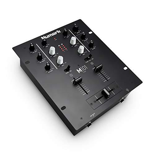 Numark M101USB - Mixer 2 canali a rack per DJ con EQ a 2 bande, interfaccia audio integrata, ingresso microfonico e crossfader sostituibile