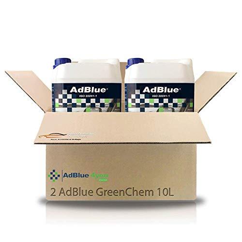 Pack de 2 bidons d'AdBlue 10L GreenChem ISO 22241