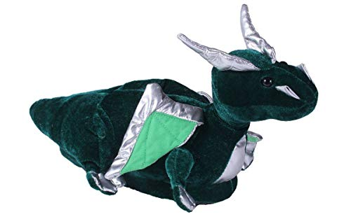 9068-4 - Dragon - X Large - Happy Feet Kids and Adult Animal Slippers