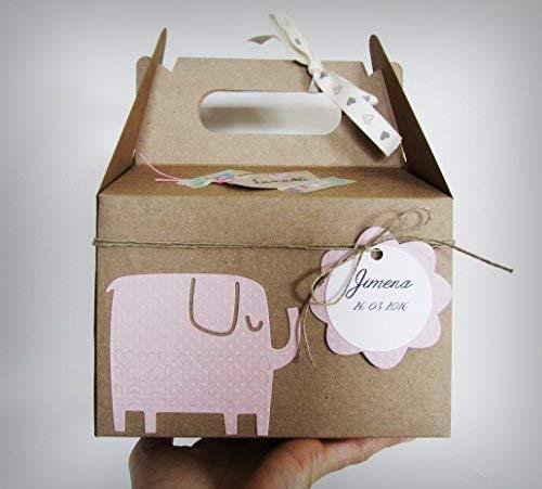 Regalo Original para Recién Nacidos | Caja con Cupcake (Babero TOMMEE TIPPEE + Calcetines en Algodón), Esponja natural SUAVINEX y Calcetines en Forma de Flor | Baby Shower Idea Regalo | Tonos