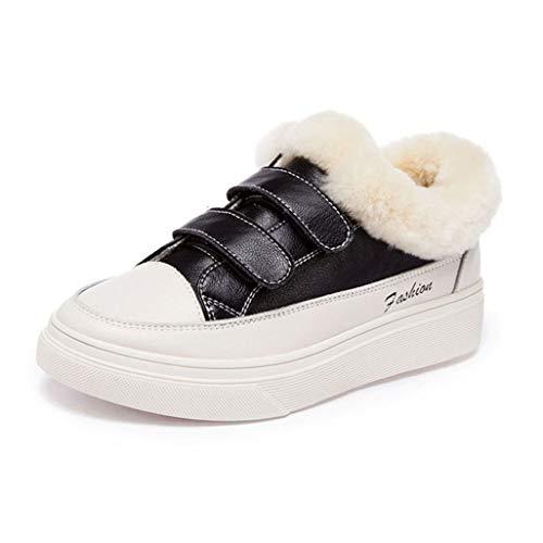 Calidez Invernal Mocasines De Felpa Plataforma Zapatillas De Deporte De Muy Buen Gusto Casual Botines Gruesos Y Cómodos Zapatos De Muffin con Punta Redonda Suave