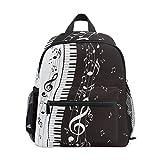 CPYang - Zaino per bambini con note musicali, tastiera per pianoforte, scuola materna, zaino per bambini