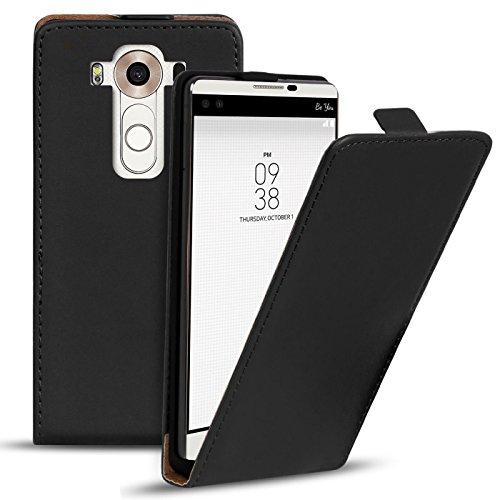 Conie BF18767 Basic Flip Kompatibel mit LG V10, PU Leder Hülle Cover Klapphülle für V10 Tasche Schwarz