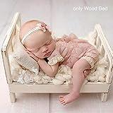 Neugeborene Fotografie Requisiten,Baby Foto Hintergrund Diy Kleine Holzbett Abnehmbare Bett Studio...
