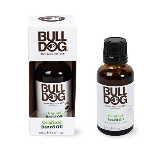 Bulldog Mens Skincare and Grooming Original Beard Oil for Men with Aloe, Camelina & Green Tea, 1 Fl. Oz.