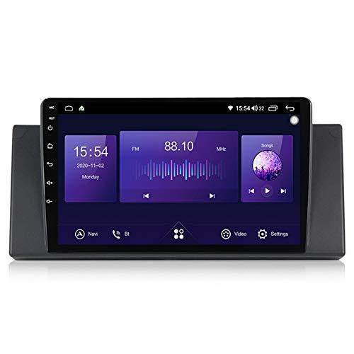 ADMLZQQ Android 10 Radio De Coche 2 DIN Car Stereo para BMW E53 1080P HD Pantalla Táctil Llamadas Manos Libres Bluetooth Navegación GPS Cámara De Visión Trasera(Gift),7862,6+128G