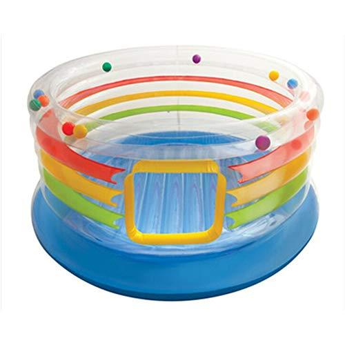 ZhengELE Uso en el Hogar Niños Zona de Juegos Cubierta Inflable Infantil bebé al Aire Libre Salto hinchables Mini trampolín Soft Play Ground Equipo