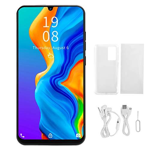 Smartphone desbloqueado, teléfono inteligente con pantalla de 7,2 pulgadas, HD de 7,2 pulgadas para pantalla de gota de agua, reconocimiento facial, cámara de 2 MP + 5 MP, tarjeta dual (negro)