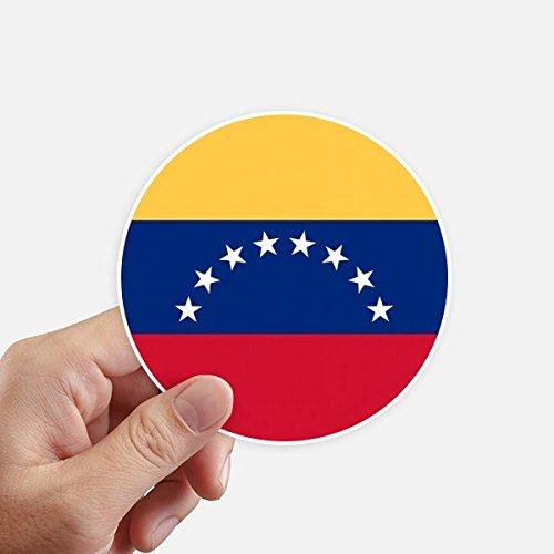 DIYthinker Venezuela Bandera Nacional América del Sur País Redondas 10cm Pared Maleta portátil...