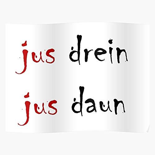 Show Daun Tv Drein Jus 100 Regalo para la decoración del hogar Wall Art Print Poster 11.7 x 16.5 inch