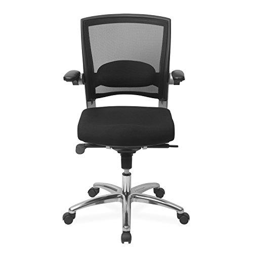 NILKAMAL Opera Low Back Office Chair, Black