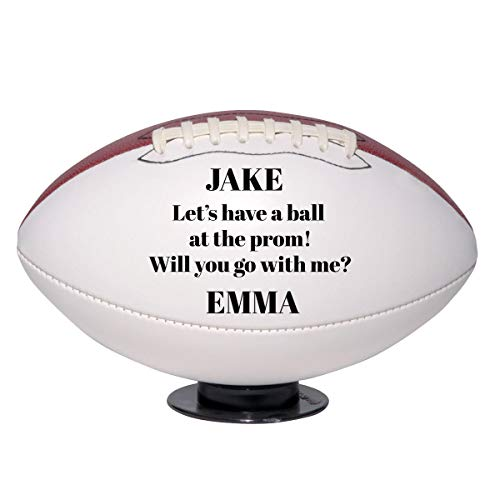 Custom Full Size Football Prom Proposal 2021 | Personalized with Name for Football Player, Football Fan, Girlfriend, Boyfriend, Him, Her | Promposal Idea Let's Have a Ball Together