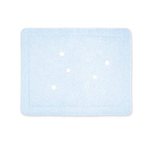 BEMINI - Tapis de Parc - 75x95 cm - Collection Stary - motifs étoiles Bleu pale  - en Terry