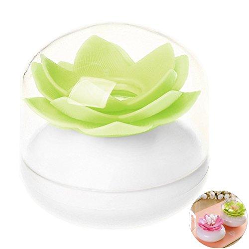 Siming Lotus - Contenitore per stuzzicadenti in cotone, colore: verde