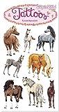 Tattoo-Set * Pferde - Fotorealitisch * von Lutz Mauder | 44690 | Pferd Pony Tattoos Kindertattoo Kinder Geburtstag Mitgebsel