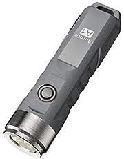 RovyVon A1x LED zaklamp, 650 Lumen kleine sleutelhanger zaklamp oplaadbaar, vijf modi waterbestendig EDC Mini zakzakzakzaklamp, voor dagelijks gebruik, kamperen, wandelen, jagen, hardlopen