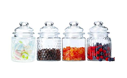HOMIES INTERNATIONAL 4er Set Lebensmittelaufbewahrung Einmachglas Behälter Behälter Behälter Sortierte Form (je...