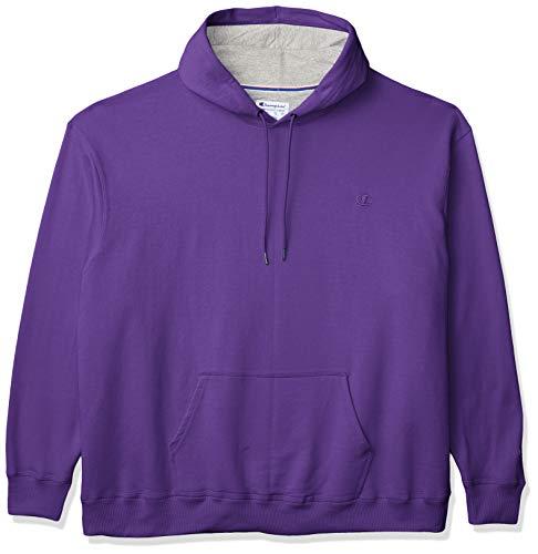 Champion Men's Powerblend Pullover Hoodie, Purple, Large