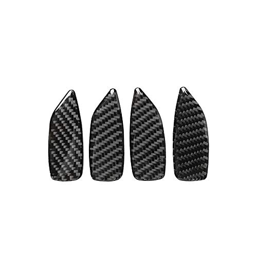 KKmoon autosticker binnendeurgreep schaal cover carbon deco trim pols frame sticker vervanging voor BMW 3-serie E461998-2005