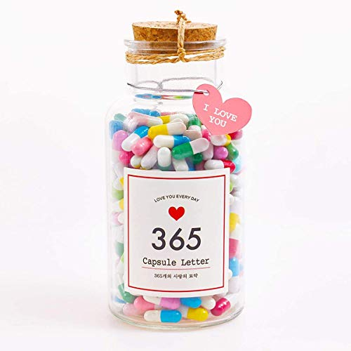 Boyfriend Gifts Message in a Bottle Capsule Letter 365 Pcs Message Pills Love Letter Cute Gifts for...