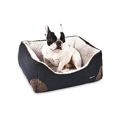 AmazonBasics Cama para mascotas, de tamao pequeo, negro