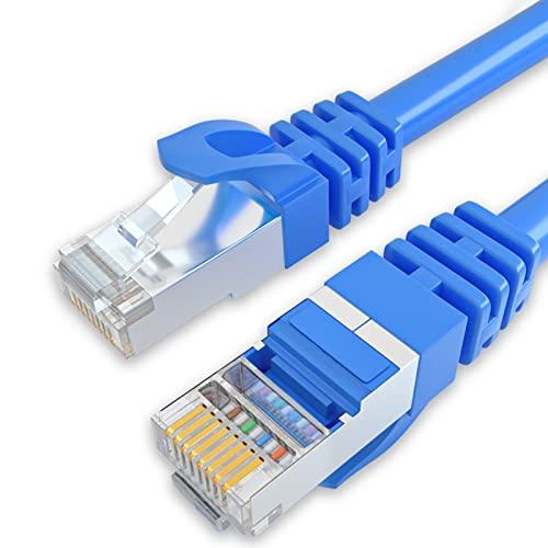 TENKY Cable Ethernet Cat6, cable de red LAN de Internet, alta velocidad sólida, cable de computadora con 2 conectores RJ45 para router, módem