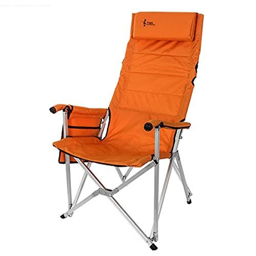 XXCHUIJU Lightweight Portable Beach Chair, Folding Camping Chairs High Back with Armrest, Carry Bag, Beach Chair for Camping, Fishing