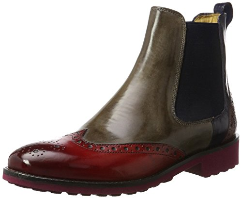 MELVIN & HAMILTON MH HAND MADE SHOES OF CLASS Damen Amelie 5 Chelsea Boots, Mehrfarbig (Crust Rich Red, Smoke, Navy, Lt. Purple, Ela. Navy, Rook D Bordo), 41 EU