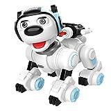VanFty Las balas de control remoto RC perro robótico interactivo inteligente Caminar lanzamiento suave programables Robot perrito juguetes electrónicos Animales de sonido for niños Niño Niña Edad 6-12