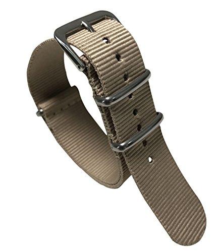 22 millimetri beige di alta qualità in stile super confortevole polso banda vigilanza del wristband degli uomini di nylon di stile di gusto squisito