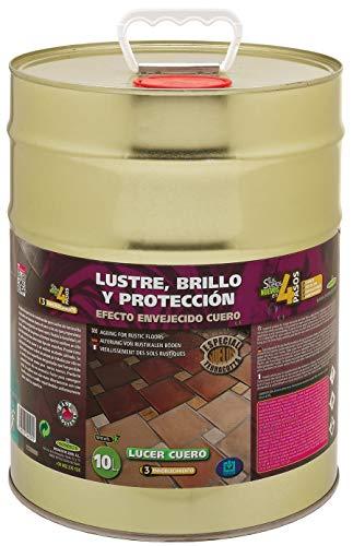LUCER LUSTRE Y PROTECCION para suelos de Terracotta o barro ACABADO ENVEJECIDO CUERO 10L MONESTIR