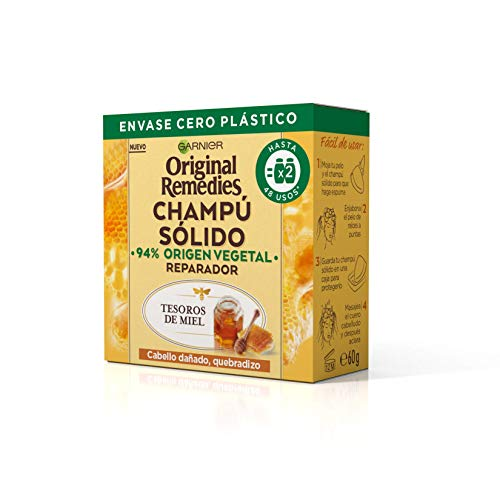 Garnier Original Remedies Champú Sólido - Tesoros De Miel Para Cabello Dañado, Quebradizo (C6455400) ✅